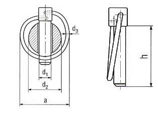 DIN 11023 linch pins drawing